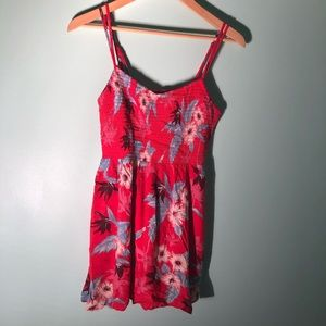 American Eagle Mini Red Floral Dress